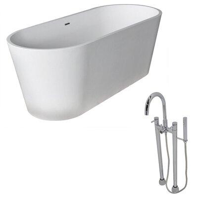 Rossetto 66.8 x 27.75 Freestanding Soaking Bathtub