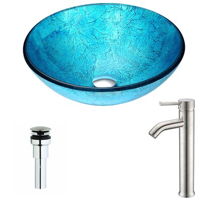 Accent Circular Vessel Bathroom Sink Faucet Finish: Brushed Nickel