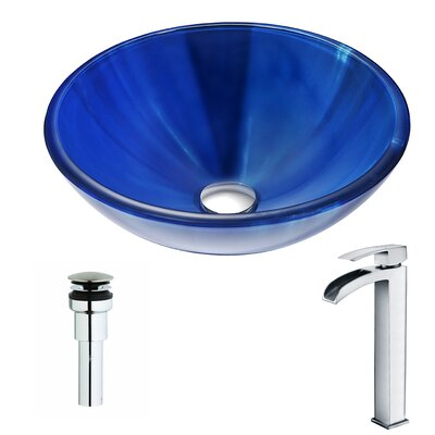 Meno Circular Vessel Bathroom Sink Faucet Finish: Polished Chrome