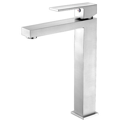 Enti Single Handle Vessel Sink Faucet with Drain Assembly Finish: Brushed Nickel