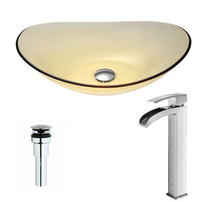 Mesto Oval Vessel Bathroom Sink Faucet Finish: Brushed Nickel