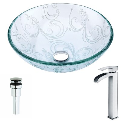 Vieno Circular Vessel Bathroom Sink Faucet Finish: Polished Chrome