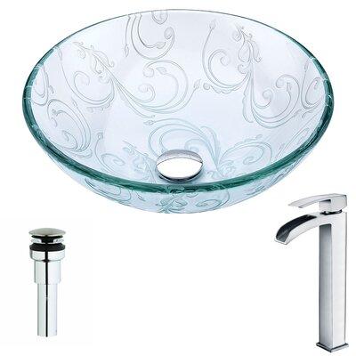 Vieno Circular Vessel Bathroom Sink Faucet Finish: Polished Chrome
