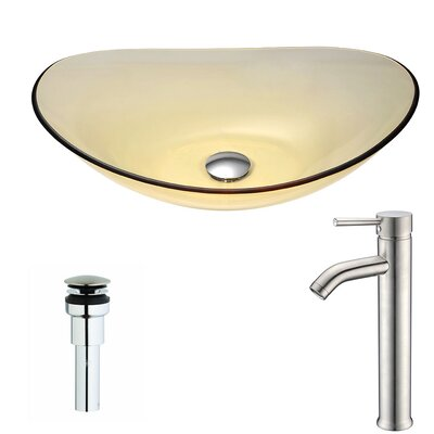 Mesto Oval Vessel Bathroom Sink Faucet Finish: Polished Chrome