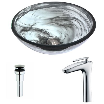 Mezzo Circular Vessel Bathroom Sink