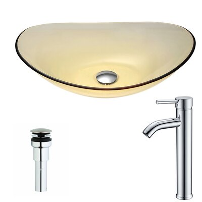 Mesto Oval Vessel Bathroom Sink Faucet Finish: Chrome
