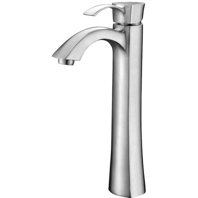 Harmony Single Handle Vessel Sink Faucet with Drain Assembly Finish: Brushed Nickel