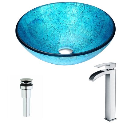 Accent Circular Vessel Bathroom Sink Faucet Finish: Polished Chrome