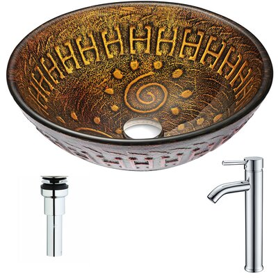 Opus Circular Vessel Bathroom Sink Faucet Finish: Chrome
