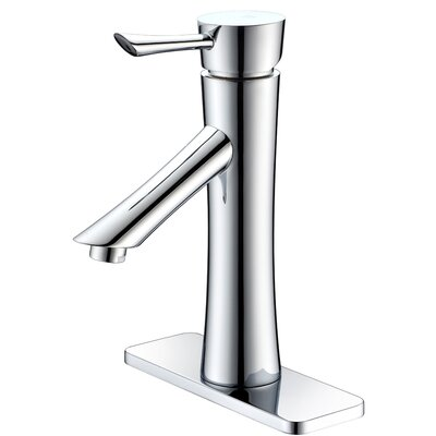 Sage Single Handle Standard Lever Bathroom Faucet with Drain Assembly Finish: Polished Chrome