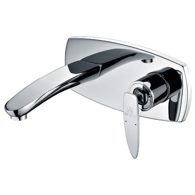 Voce Wall Mounted Single Handle Standard Lever Bathroom Faucet with Drain Assembly