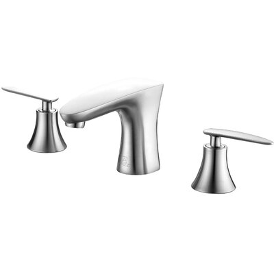 Chord Double Handle Standard Lever Bathroom Faucet with Drain Assembly Finish: Brushed Nickel