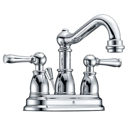 Edge Centerset Double Handle Bathroom Faucet with Drain Assembly Finish: Polished Chrome