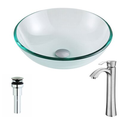 Etude Circular Vessel Bathroom Sink Faucet Finish: Brushed Nickel