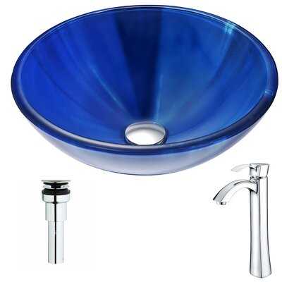 Meno Circular Vessel Bathroom Sink Faucet Finish: Chrome