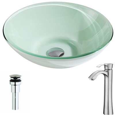 Sonata Circular Vessel Bathroom Sink Faucet Finish: Brushed Nickel