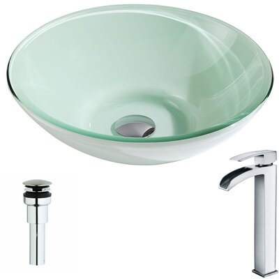 Sonata Circular Vessel Bathroom Sink Faucet Finish: Polished Chrome