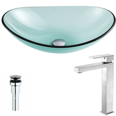 Major Oval Vessel Bathroom Sink Faucet Finish: Brushed Nickel