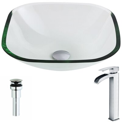 Cadenza Circular Vessel Bathroom Sink Faucet Finish: Polished Chrome