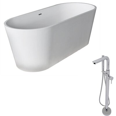 Rossetto 66.8 x 27.75 Freestanding Soaking Bathtub