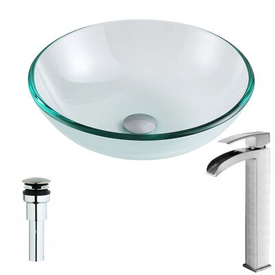 Etude Circular Vessel Bathroom Sink Faucet Finish: Polished Chrome
