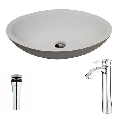 Maine Oval Vessel Bathroom Sink Faucet Finish: Chrome