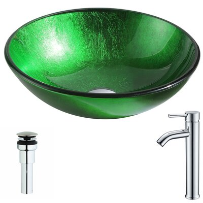Melody Circular Vessel Bathroom Sink Faucet Finish: Chrome
