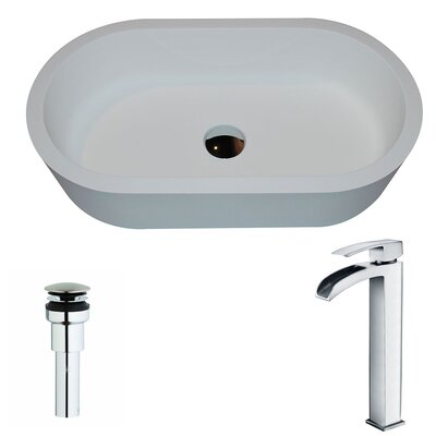Vaine Oval Vessel Bathroom Sink Faucet Finish: Polished Chrome
