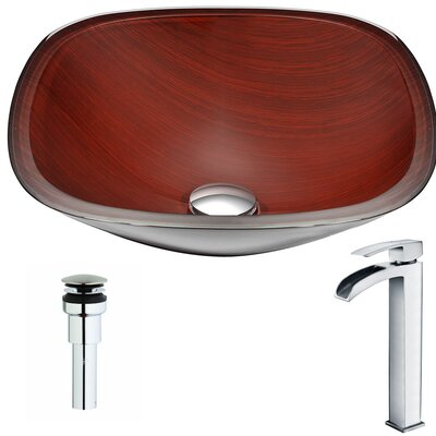 Cansa Square Vessel Bathroom Sink Faucet Finish: Polished Chrome