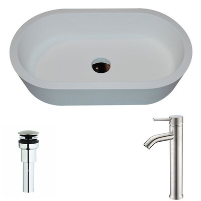 Vaine Oval Vessel Bathroom Sink Faucet Finish: Brushed Nickel