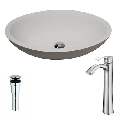 Maine Oval Vessel Bathroom Sink Faucet Finish: Brushed Nickel