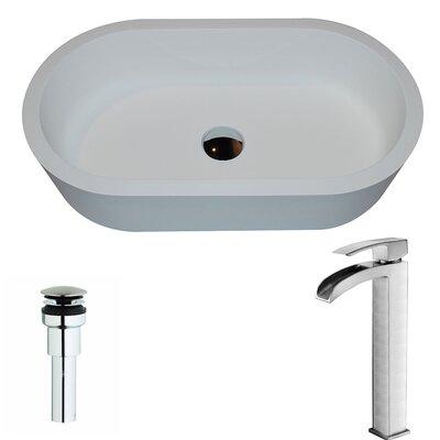 Vaine Oval Vessel Bathroom Sink Faucet Finish: Brushed Nickel