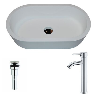Vaine Oval Vessel Bathroom Sink Faucet Finish: Chrome