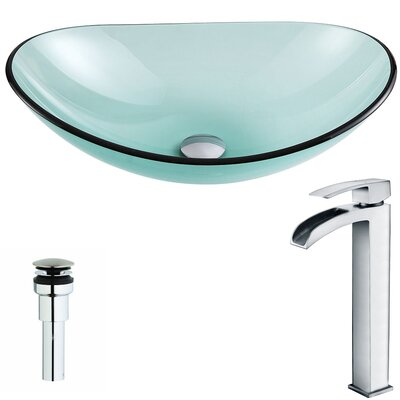 Major Oval Vessel Bathroom Sink Faucet Finish: Polished Chrome