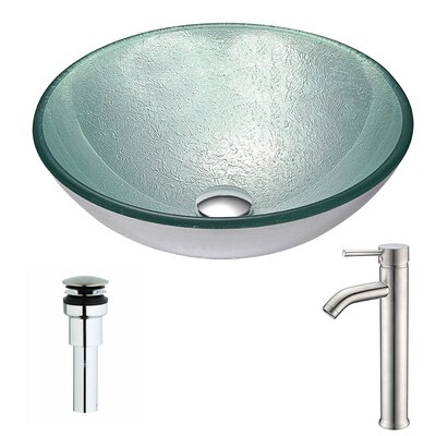 Spirito Circular Vessel Bathroom Sink Faucet Finish: Chrome