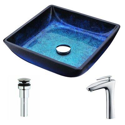 Viace Square Vessel Bathroom Sink