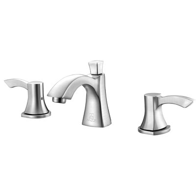 Sonata Double Handle Widespread Lever Bathroom Faucet with Drain Assembly Finish: Brushed Nickel