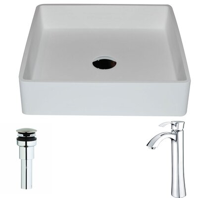 Passage Square Vessel Bathroom Sink Faucet Finish: Chrome