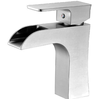 Forza Single Handle Sinlge Hole Lever Bathroom Faucet with Drain Assembly Finish: Brushed Nickel