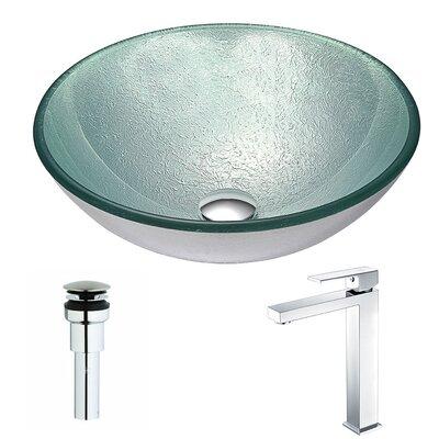 Spirito Circular Vessel Bathroom Sink Faucet Finish: Chrome