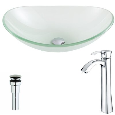 Forza Oval Vessel Bathroom Sink Faucet Finish: Chrome