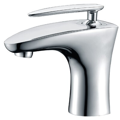 Tone Single Handle Single Hole Lever Bathroom Faucet with Drain Assembly Finish: Polished Chrome