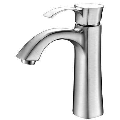 Rhythm Single Handle Single Hole Lever Bathroom Faucet with Drain Assembly Finish: Brushed Nickel