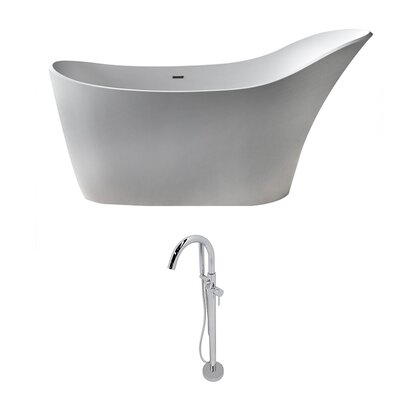 Alto 67.5 x 28.75 Freestanding Soaking Bathtub