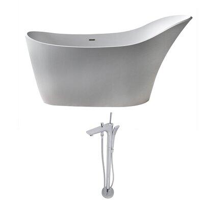 Alto 67.5 x 28.75 Freestanding Soaking Bathtub