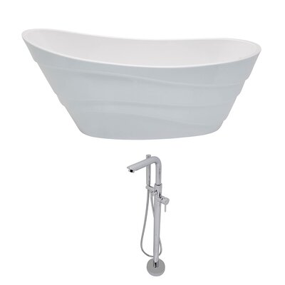 Stratus 67 x 29.5 Freestanding Soaking Bathtub