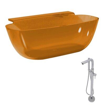 Vida 62 x 32 Freestanding Soaking Bathtub Color: Honey Amber