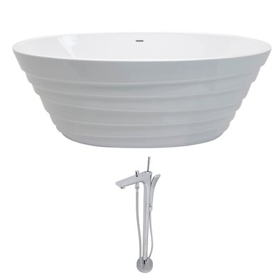 Nimbus 66.75 x 31.1 Freestanding Soaking Bathtub