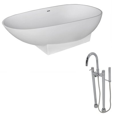 Volo 70.8 x 35.5 Freestanding Soaking Bathtub