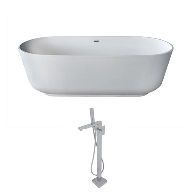 Sabbia 70.8 x 31.5 Freestanding Soaking Bathtub